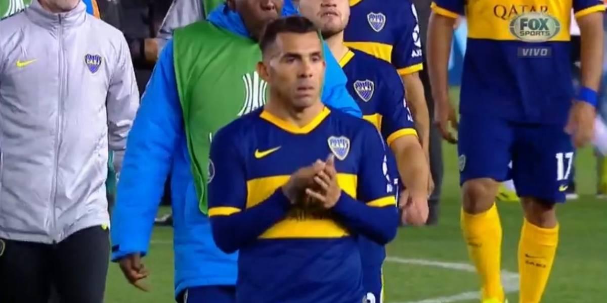 El polémico gesto de Carlos Tevez que le podría costar una sanción de oficio en la Copa Libertadores