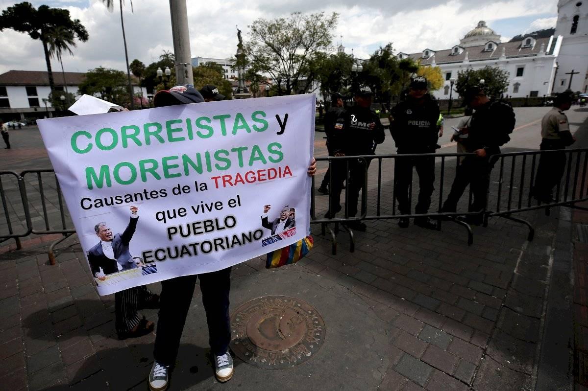 Protesta contra medidas económicas EFE