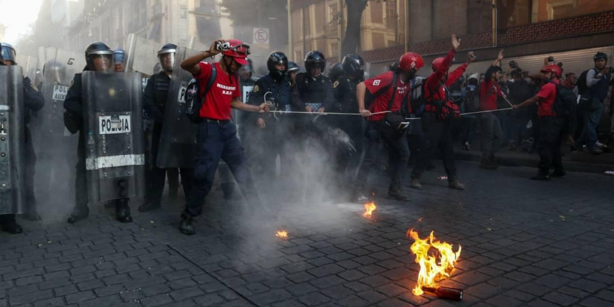 Marcha del 2 de octubre deja saldo de 14 lesionados y 3 detenidos