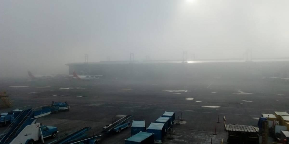 Presencia de neblina afectó operaciones en el aeropuerto La Aurora
