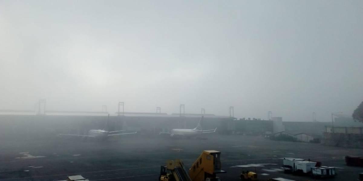 Neblina afectó operaciones en el aeropuerto La Aurora