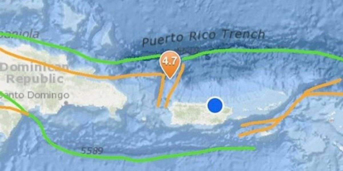 Registran sismo al noroeste de Puerto Rico