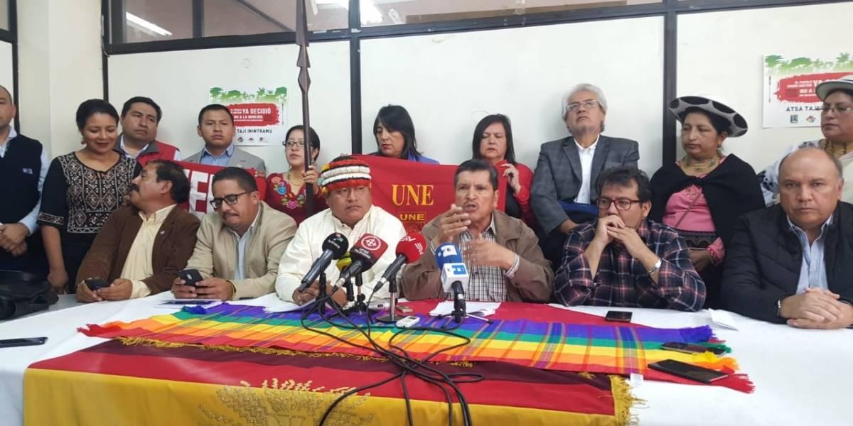 FUT, Conaie y Frente Popular anuncian movilización gradual y permanente ante las medidas económicas