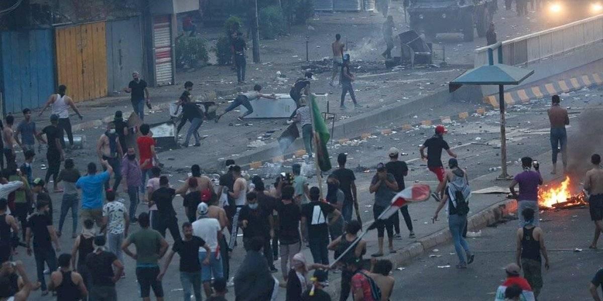 Disparos y toque de queda en Bagdad