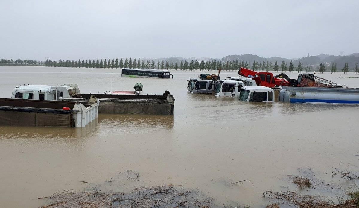 Inundaciones en Corea del Sur por tifón Mitag