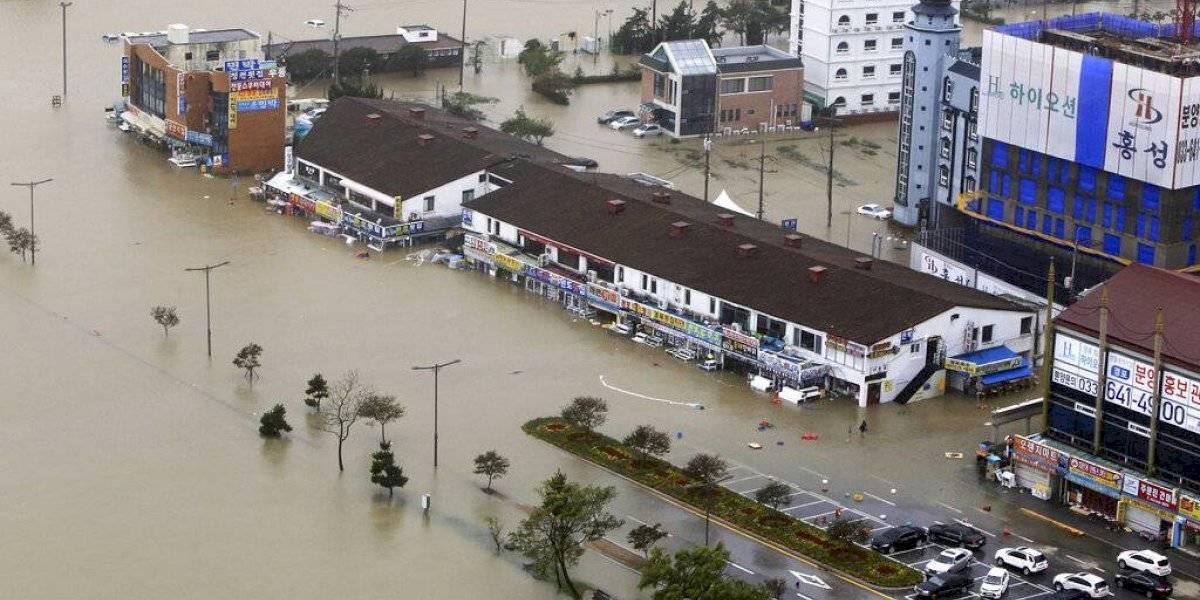 Fuerte tifón azota a Corea del Sur y deja varios muertos