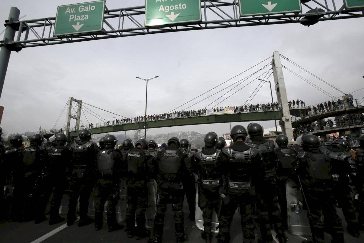A las manifestaciones de los transportistas se sumaron organizaciones sociales, indígenas y estudiantes universitarios