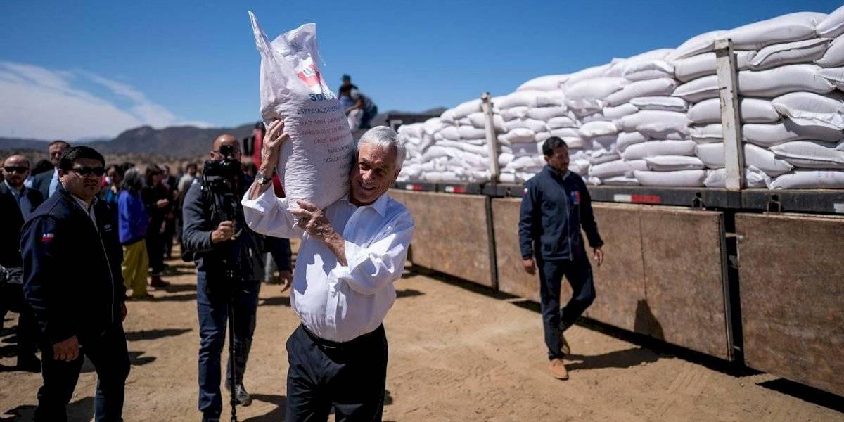 """Esperan una """"manito del cielo"""": Piñera le pidió ayuda a """"San Isidro"""" para que Chile supere la sequía"""