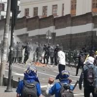 Protestas en Quito en medio del paro nacional