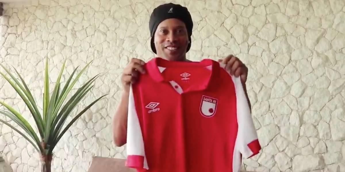 Hinchas disgustados por el rival que jugará contra Santa Fe en partido de Ronaldinho