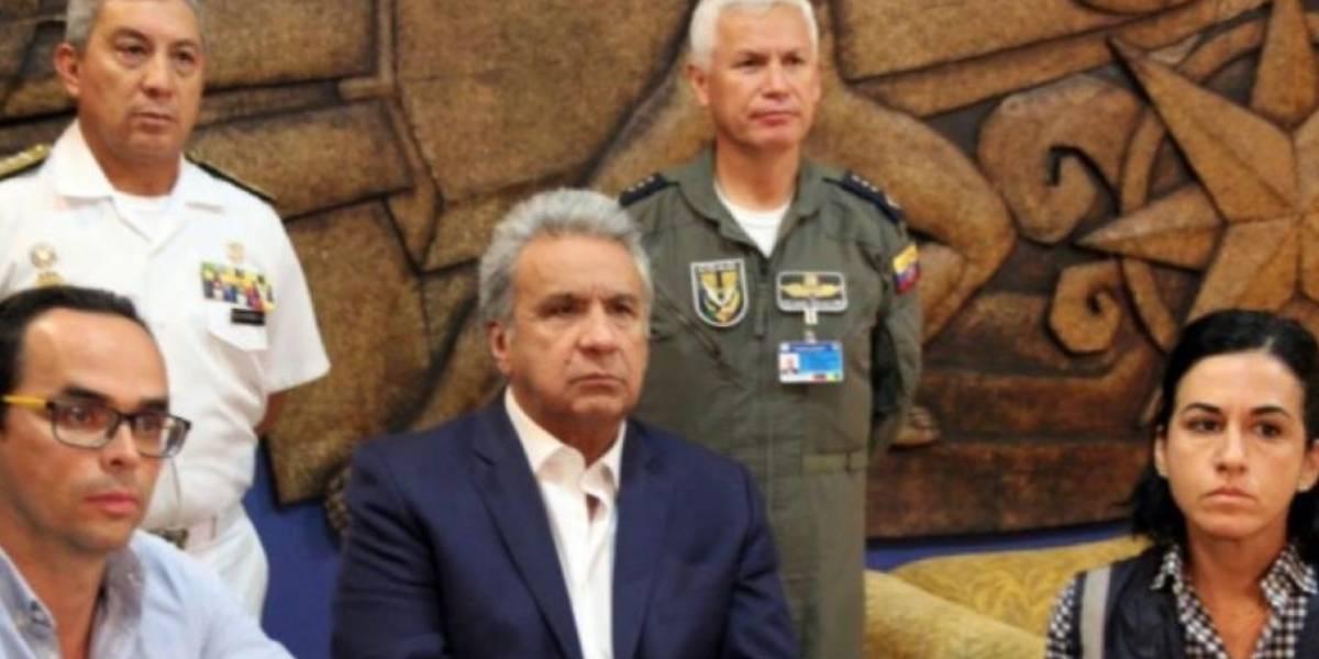 Lenín Moreno no se pronunció en cadena nacional a las 22:00 este 3 de octubre