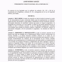 Decreto paro nacional