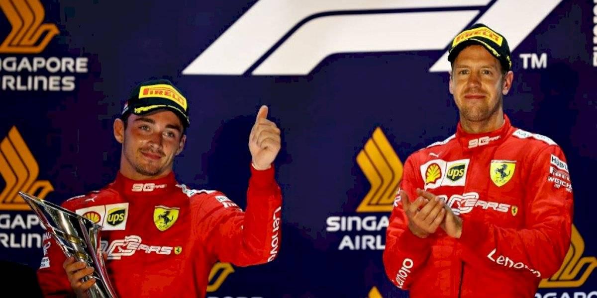 Guerra entre Leclerc y Vettel provocaría salida del alemán de Ferrari