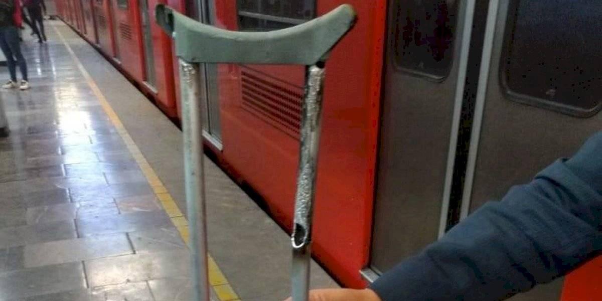 Muleta atrasa servicio en el Metro Pantitlán