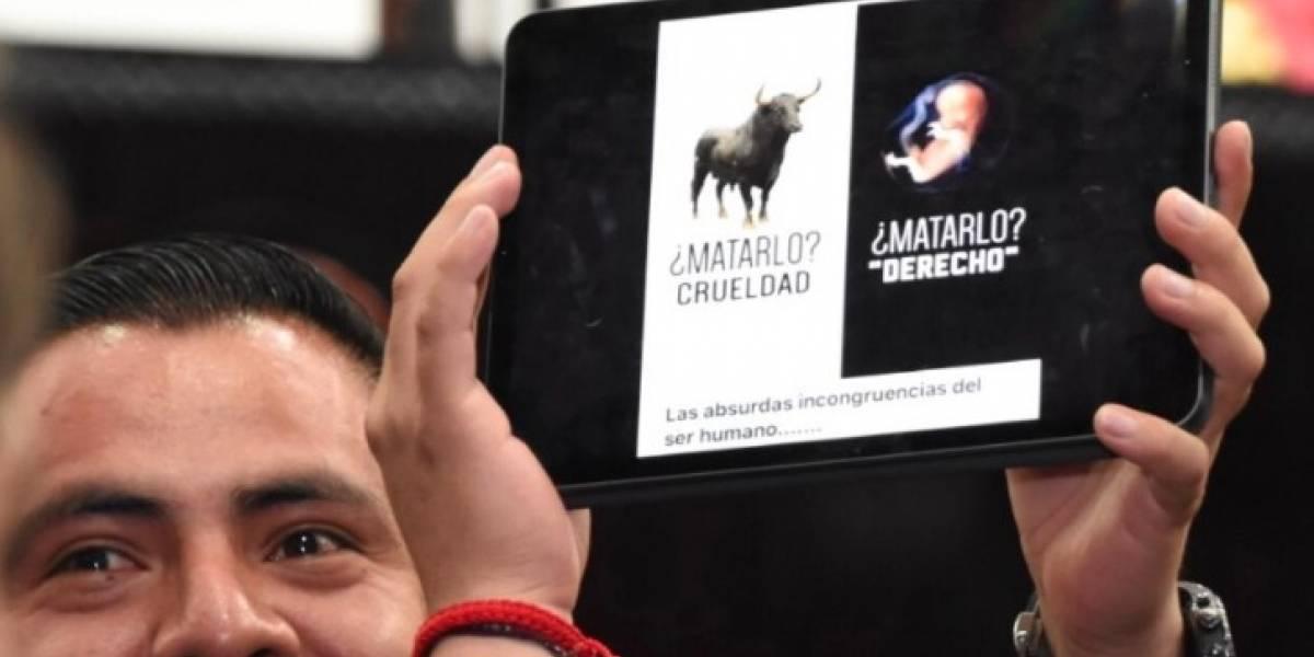 Diputado de Morena compara el aborto con la tauromaquia