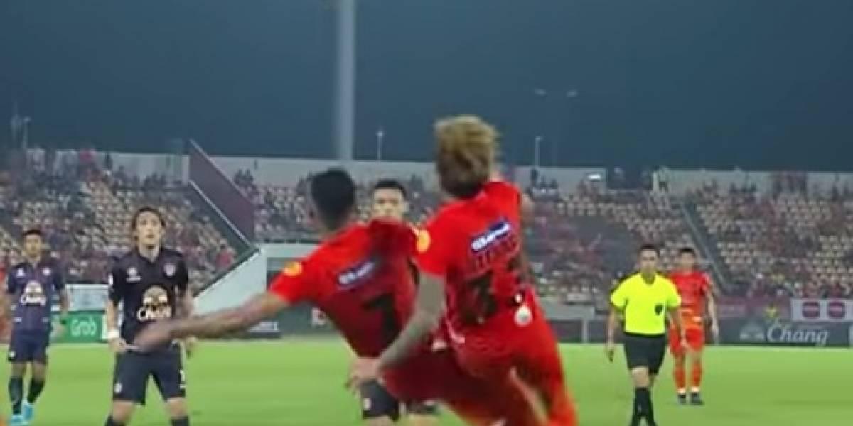 Video: Increíble gol de chilena al estilo de Súper campeones