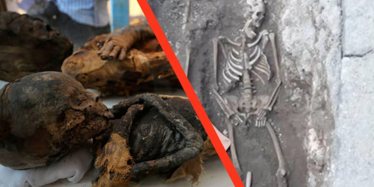 Roma: Encuentran unas momias durante una excavación en la acera
