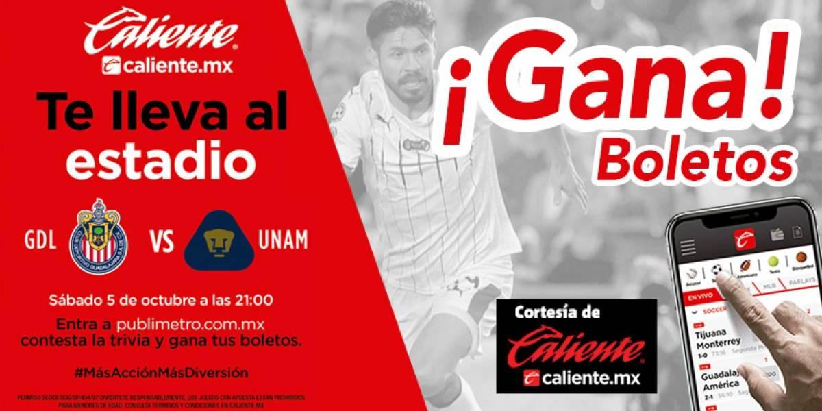¡Gana! pase doble para el partido Chivas vs Pumas