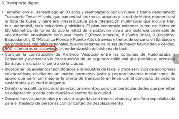Promesa de Piñera