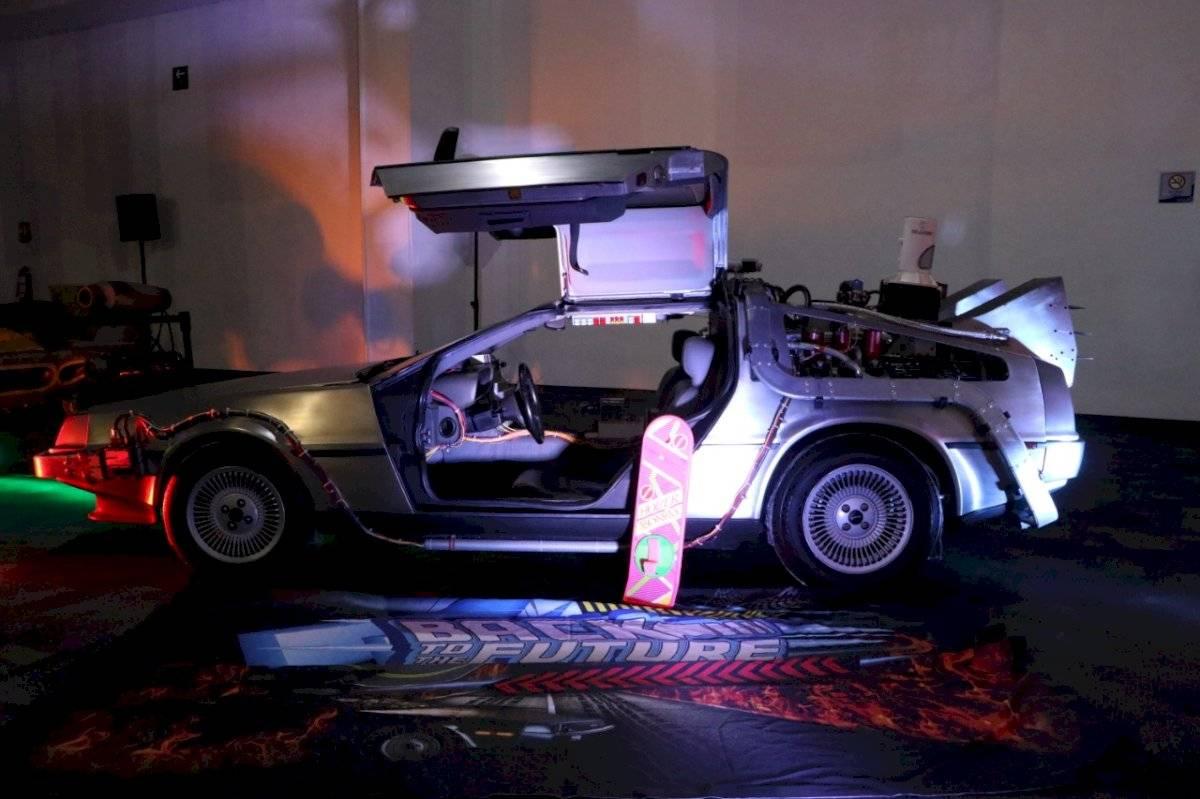 El famoso auto de la trilogía de Volver al Futuro /Foto de Axel Amézquita