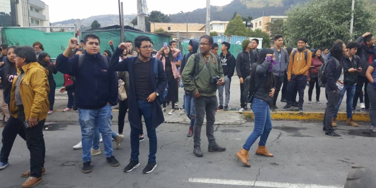 Estudiantes de la Universidad Central se suman al Paro Nacional