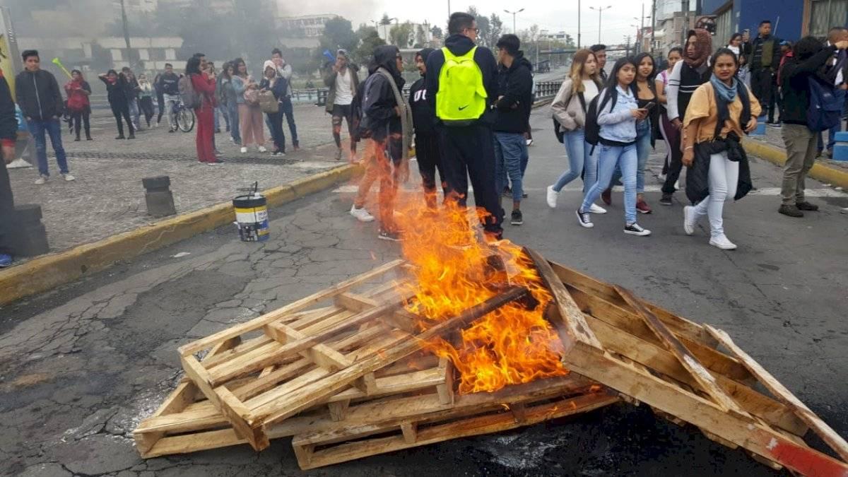 Protestas por el paro nacional Cortesía