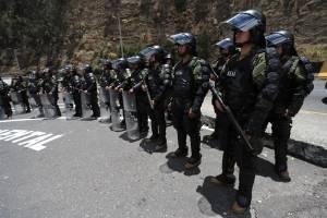 Policías en protestas Ecuador