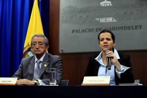 María Paula Romo y Oswaldo Jarrin