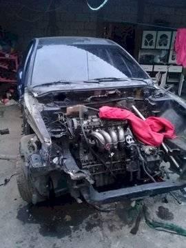 vehículo desmantelado en Carranza