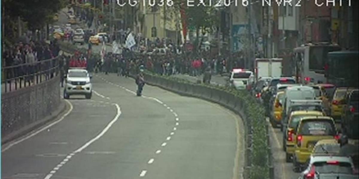 Movilidad en el centro de Bogotá se complica por manifestaciones