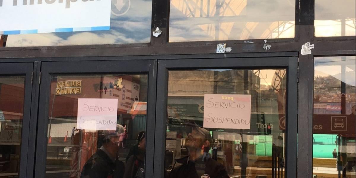 Paro Nacional: Trolebús y Ecovía suspenden algunas rutas por cierres de vías
