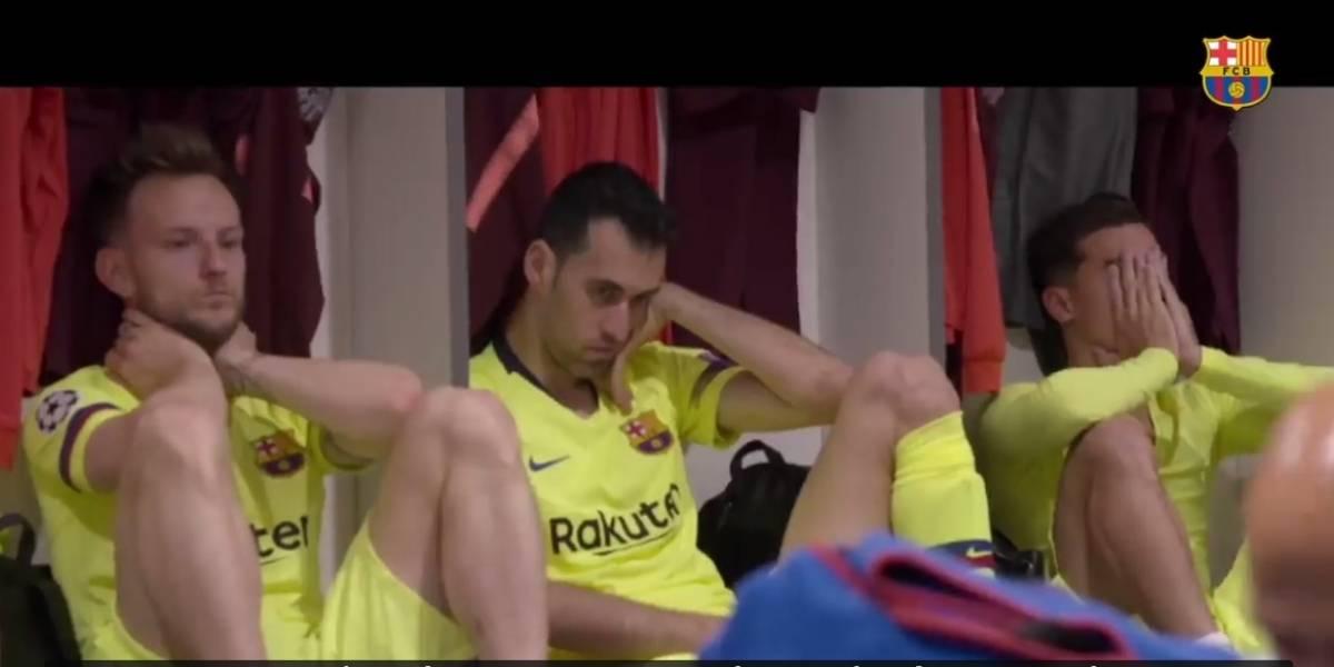 Desolación total: Barcelona revela inéditas imágenes de su camarín tras la tragedia en Liverpool