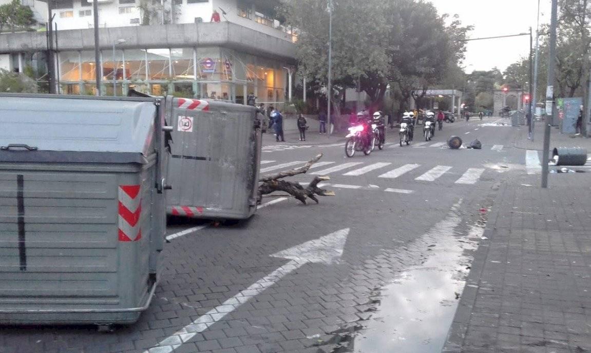Paro nacional: Se registran incidentes en la avenida Amazonas este 4 de octubre Cortesía
