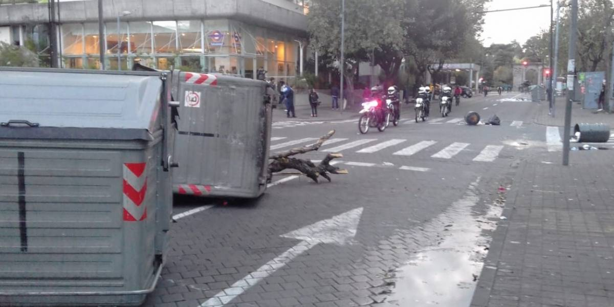 Paro nacional: Se registran incidentes en la avenida Amazonas este 4 de octubre
