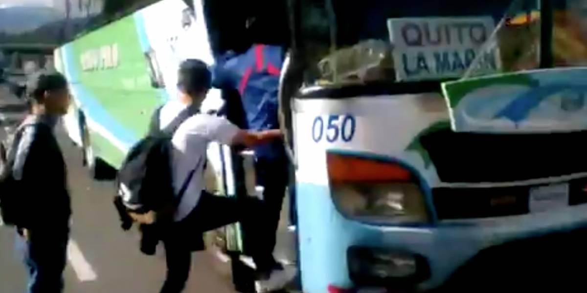 Paro nacional: Ya hay buses para El Valle de los Chillos este 4 de octubre