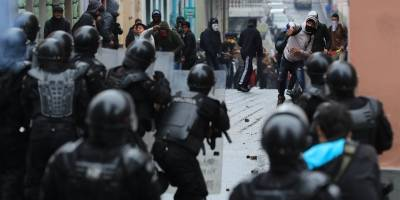 Protestas en Quito el 3 de octubre