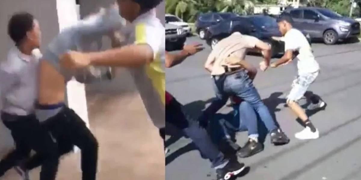 En video pelea en escuela de Trujillo Alto