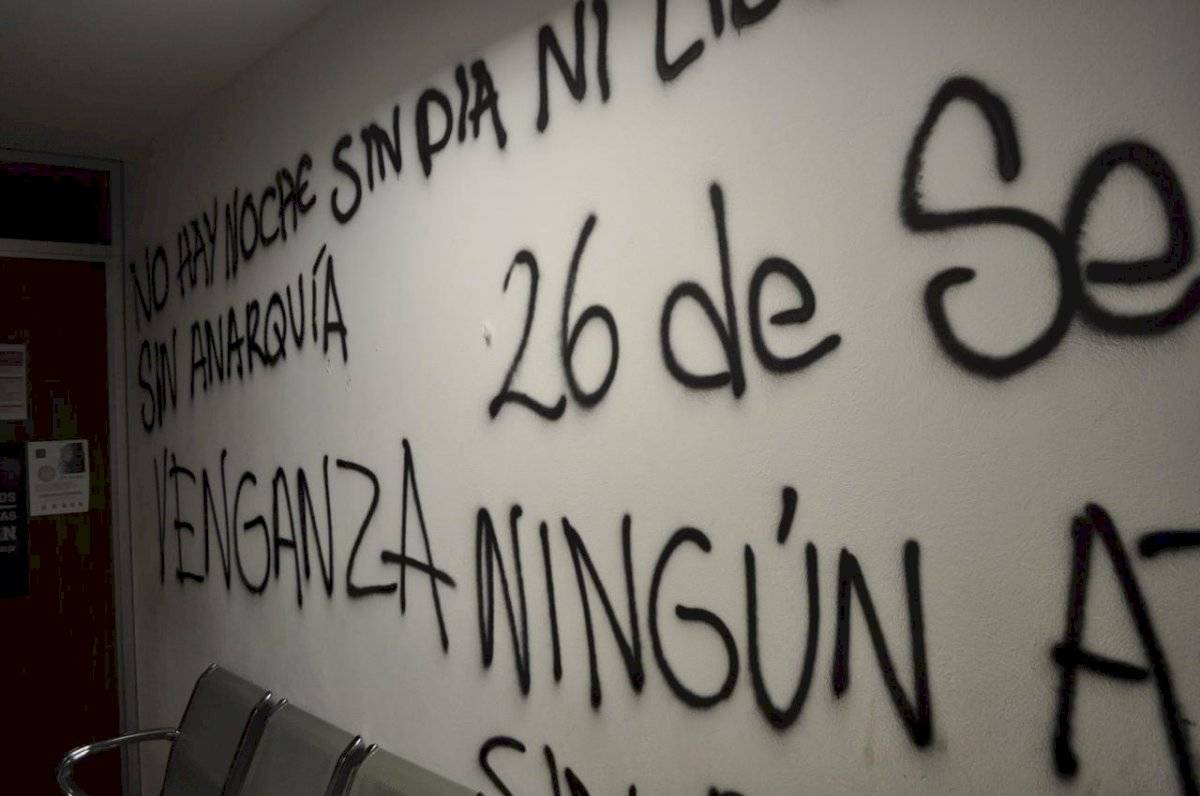Imágenes del vandalismo en la FES Acatlán Foto: Cortesía