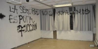 Imágenes del vandalismo en la FES Acatlán