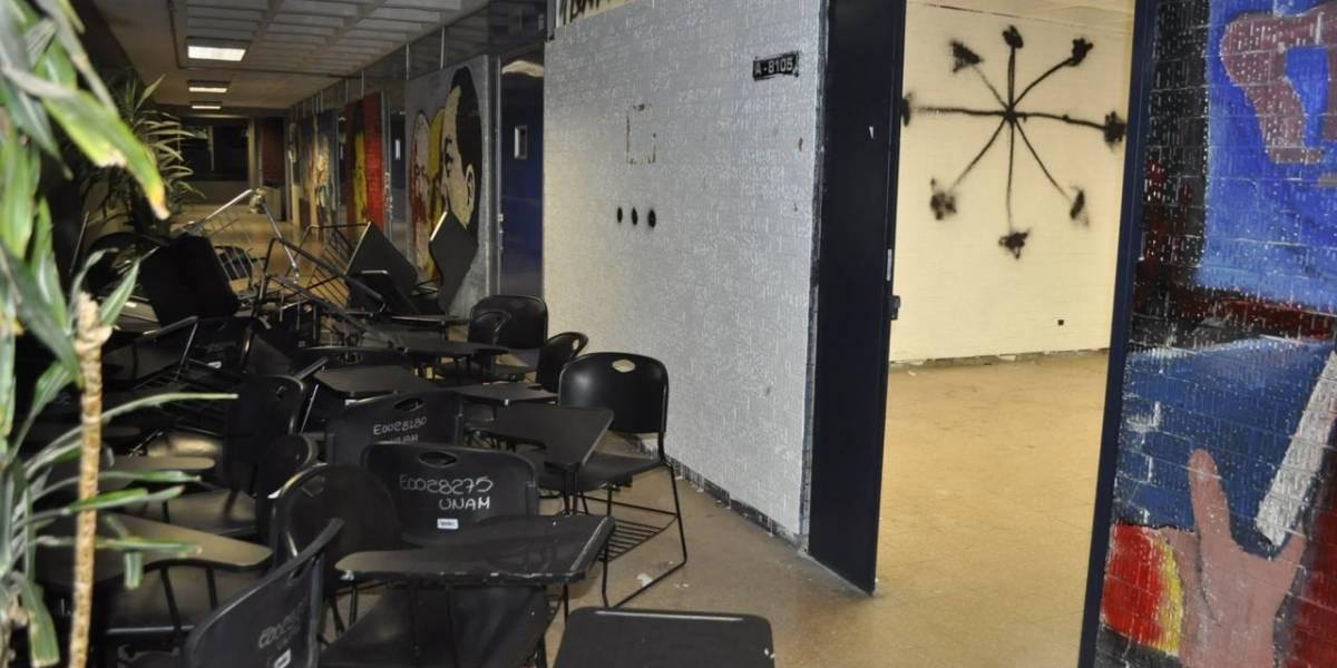 Vandalizan instalaciones de la FES Acatlán durante paro de labores