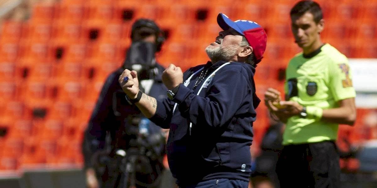 Maradona consiguió su primera victoria al frente de Gimnasia
