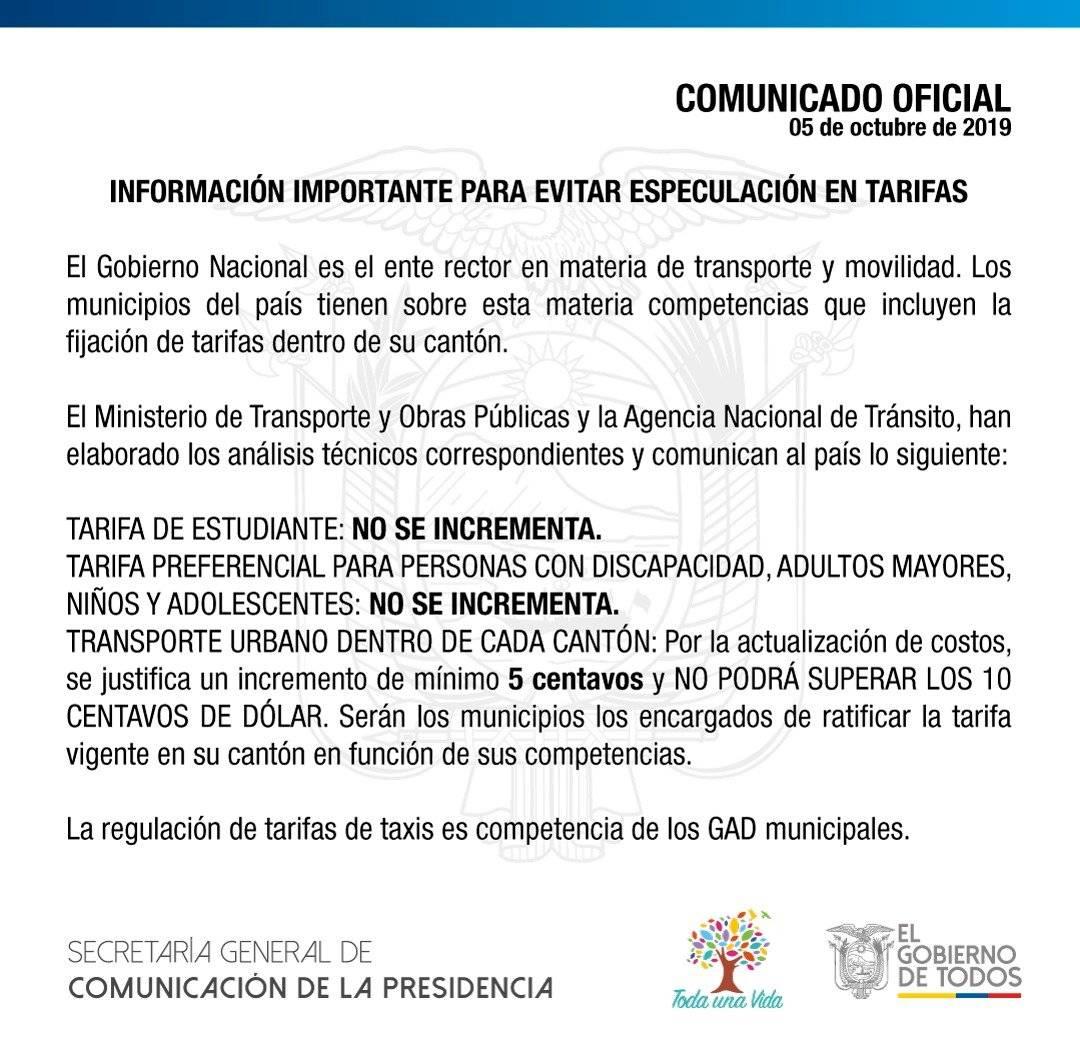 Secretaría de Comunicación.