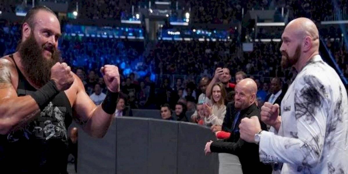 VIDEO: Tyson Fury casi se va a los golpes con estrella de WWE