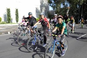 El alcalde capitalino anunció que para el presente año se estima concretar 40 kilómetros de ciclovía, y para finales de 2020 se espera alcanzar los 100 kilómetros.
