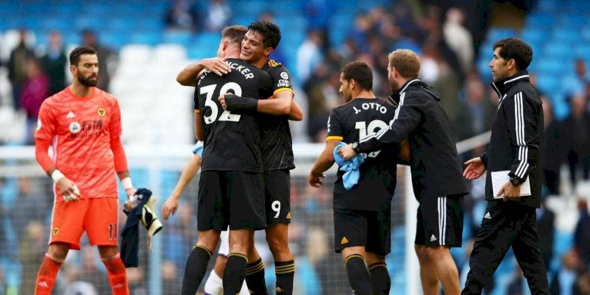 ¡Sorpresa! Wolves vence al Manchester City con dos asistencias de Raúl Jiménez