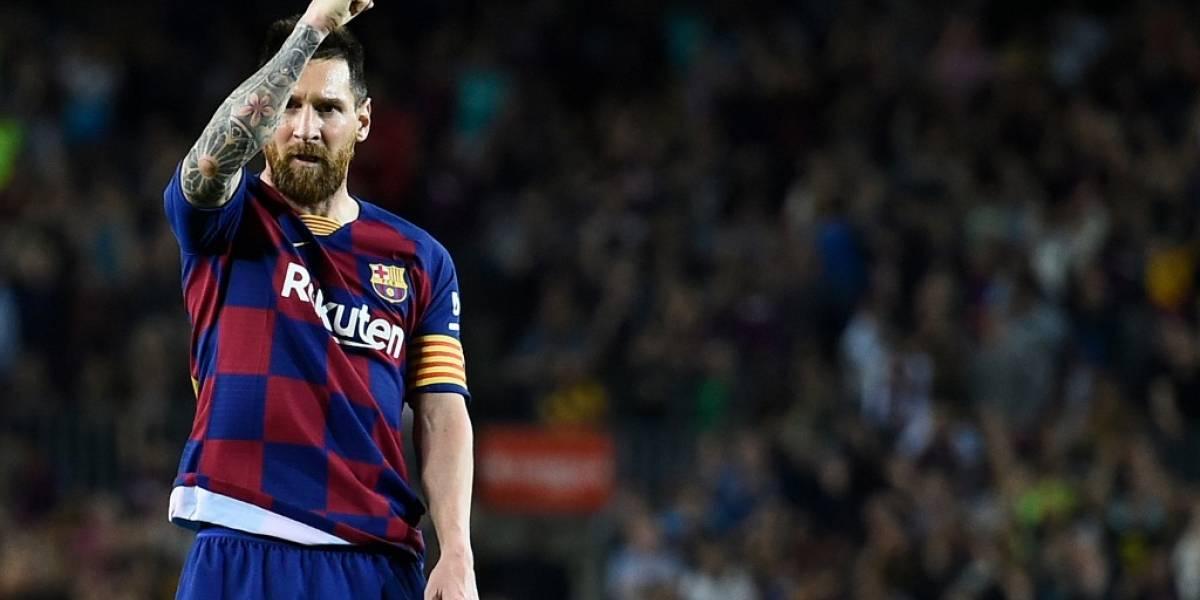 Lionel Messi marca su primer gol en la temporada con el Barcelona