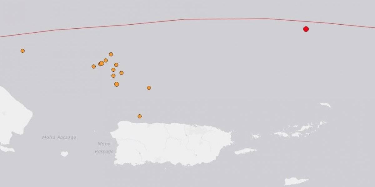 Se registra temblor en la Trinchera de Puerto Rico