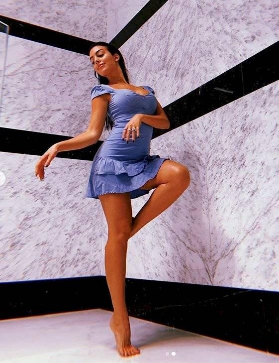 Sexy y apretado vestido Georgina Rodríguez