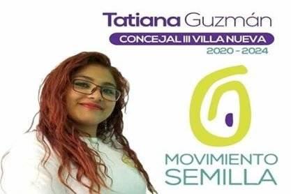 Tatiana Guzmán participó como candidata a concejal III en la Municipalidad de Villa Nueva en las elecciones de 2019. Foto: Facebook