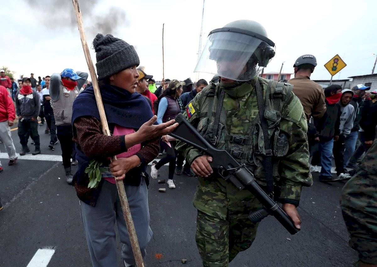 Protestas indígenas EFE